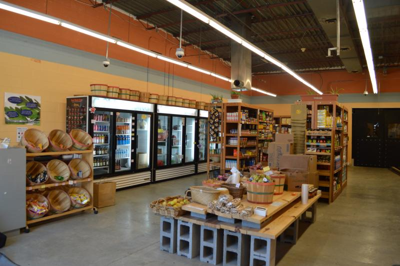 The Old North Food Co-op offers a variety of fruits, vegetables, meats, and household items.