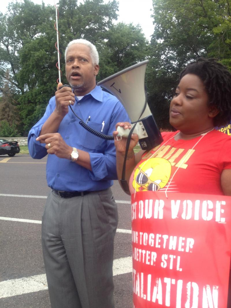 Rep. Hank Johnson (D-GA) came out in support of the fast food rally. Johnson is a member of the Congressional Progressive Caucus.