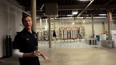 Screenshot of Kevin Lemp, co-owner of 4 Hands Brewing Co. from the film.