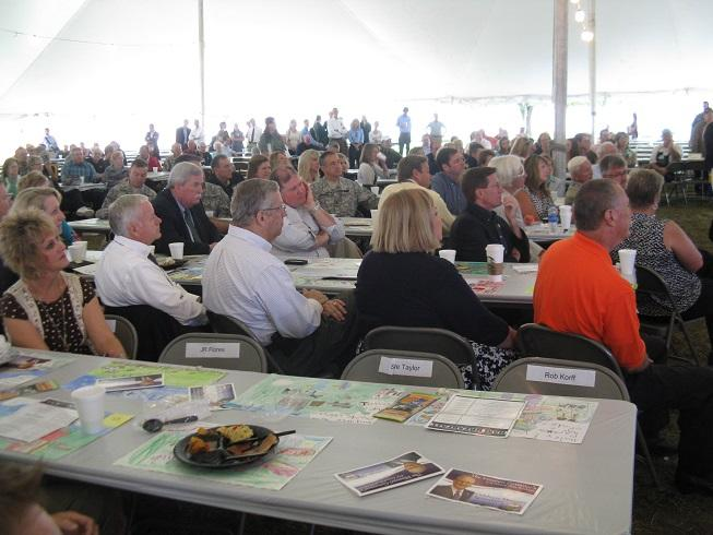 An estimated 950 people attended the 2013 Governor's Ham Breakfast at the Mo. State Fair.  Exact figures were still being tabulated as of press time.