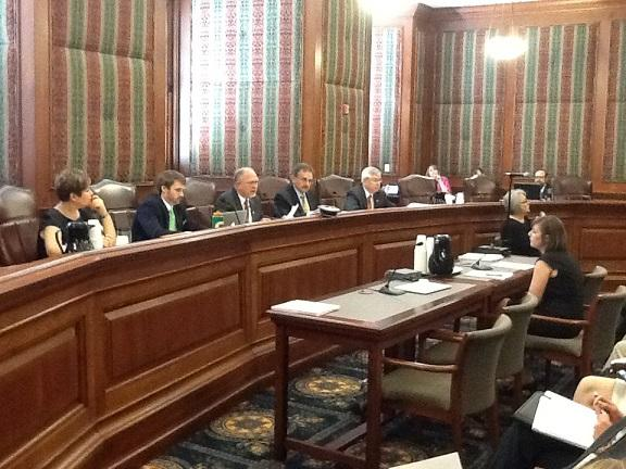 The Mo. Senate Interim Committee on Medicaid Transformation and Reform meets at the State Capitol on Aug. 14, 2013.