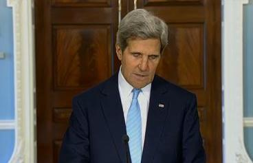 Secretary of State John Kerry speaks about the developing situation in Syria on August 30, 2013.