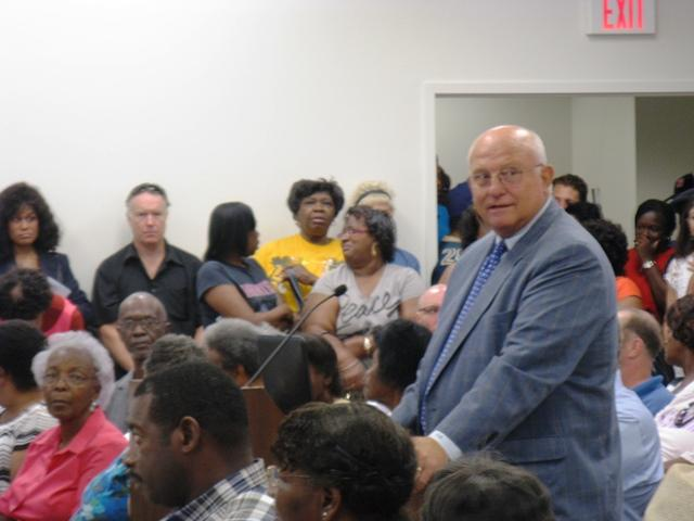 Paul McKee speaks at a public hearing on his request for an additional $192 million in tax incentives on Aug. 30, 2013.