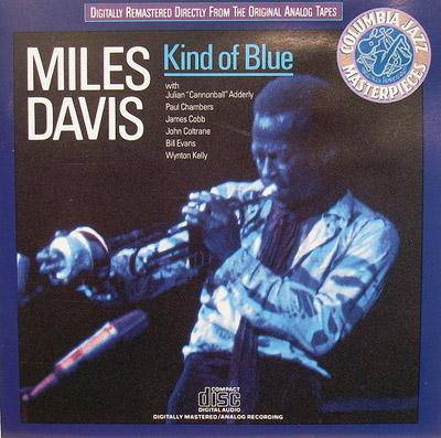 "Cover of Miles Davis record ""Kind of Blue"""