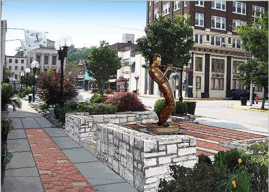 Rendering of Miles Davis Memorial Project by Barry Moyer and Mick Monahan