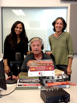 Meera Naragajan, Jim Althoff and Ligaya Figueras during the taping of Soundbites: Summer Reading