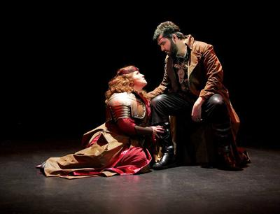 Alexandra LoBianco as Brunnhilde and Timothy Bruno as Wotan