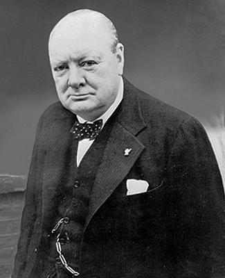 Portrait of Winston Churchill during World War II