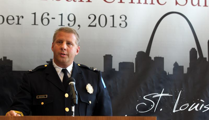 St. Louis Metropolitan Police chief Sam Dotson speaks at the Urban Crime Summit on September 18, 2013.