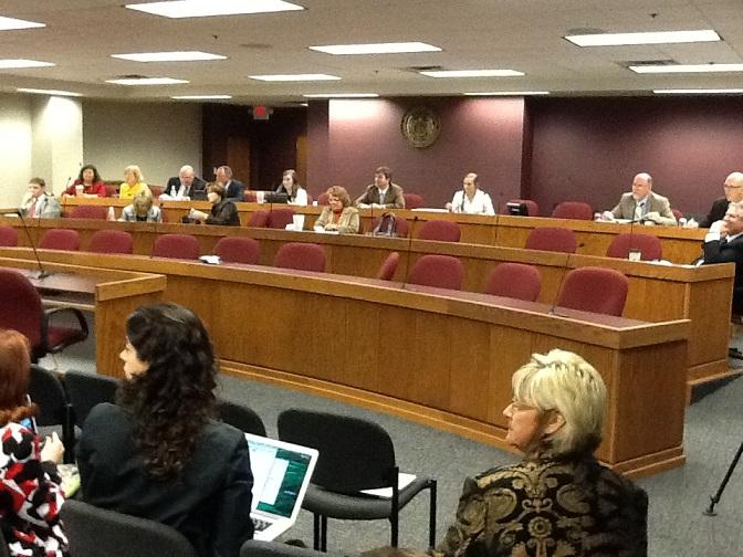 The Mo. House Interim Committee on Medicaid Transformation meets at the State Capitol on Oct. 29, 2013.