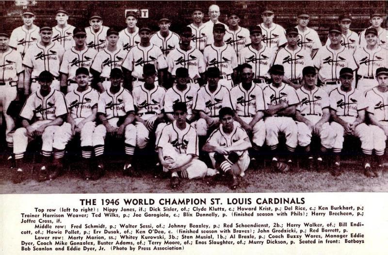 1946 World Champion St. Louis Cardinals