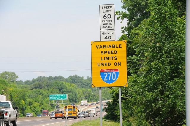 These signs on I-270 will be a thing of the past by the end of this month - MoDOT is removing the variable speed limits after five years.