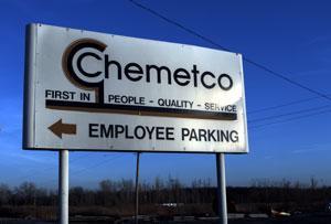 Chemetco site enterance.