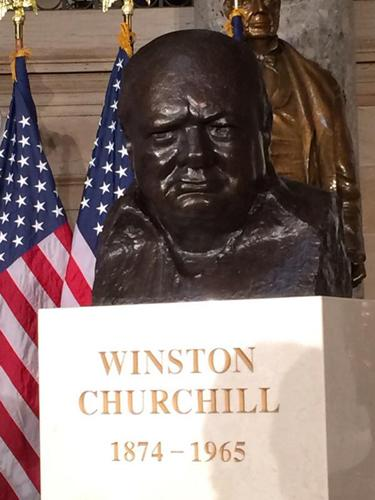Bust of Winston Churchill dedicated October, 30, 2013 in Washington, D.C.