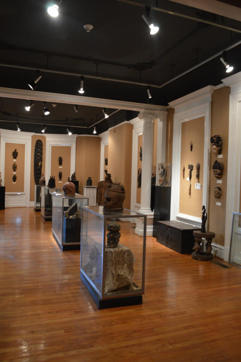 The museum houses many of Dunham's statues and masks from her travels abroad.