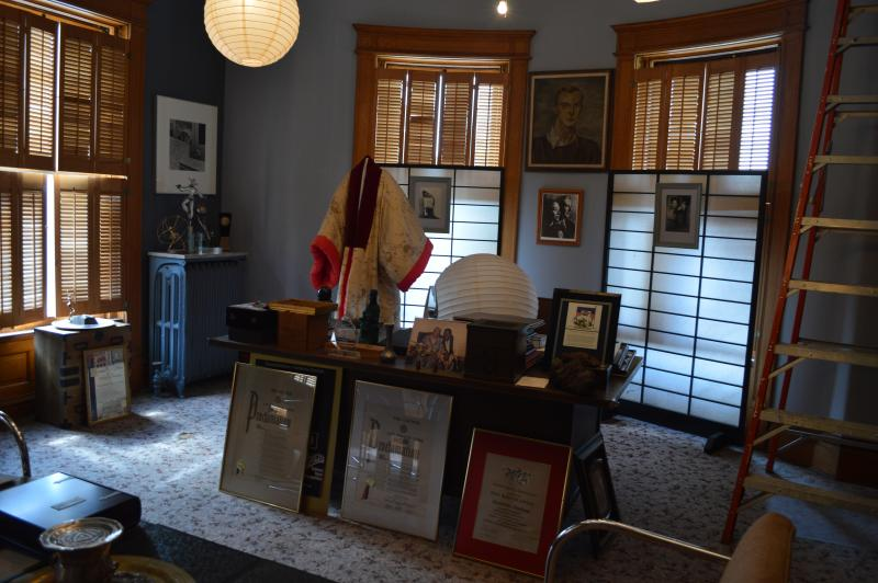Interior of Dunham's office inside of her museum. She died in 2006 in New York City.