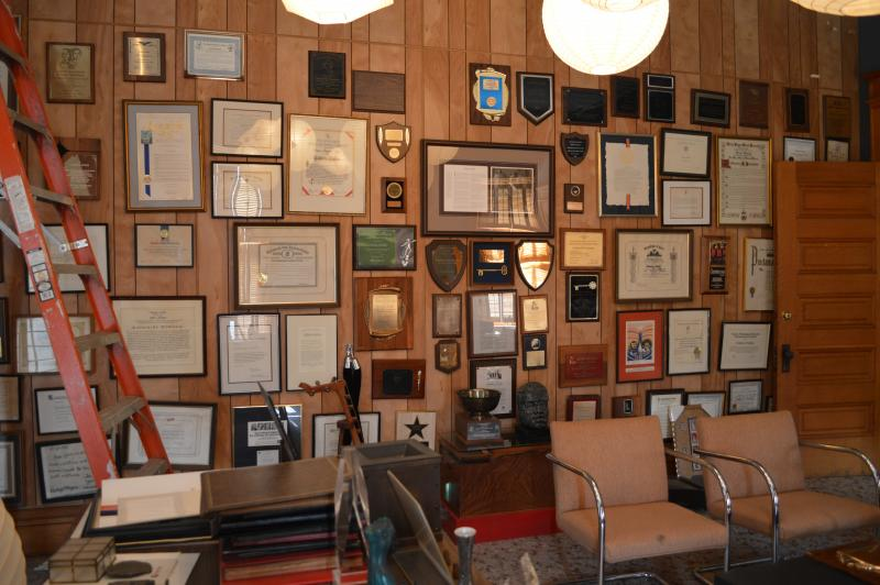 Dunham's office holds many of her awards and mements she acquired over the years.