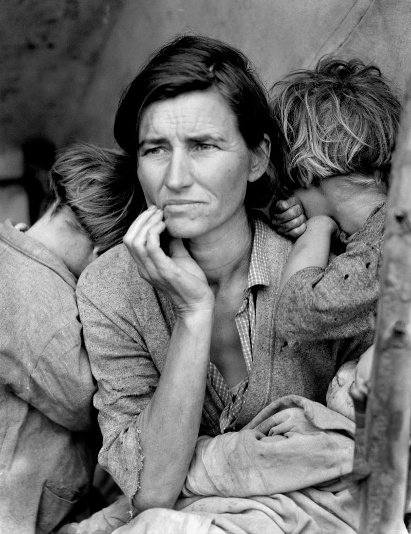 """Migrant Mother"" by Dorothea Lange is one of the 30,000 images the IPHF has in its collection."