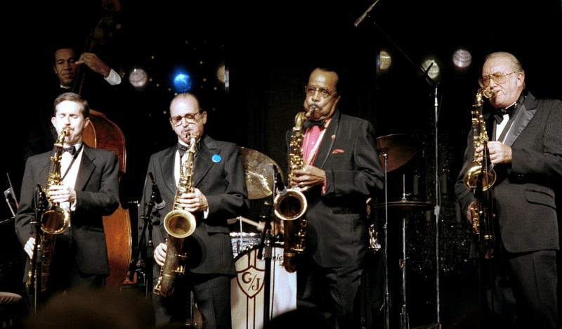Scott Hamilton, Al Cohn (heard tonight), Buddy Tate and Bob Cooper-1986