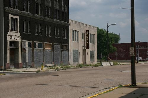 A view of the old Spivey building, once home of the East St. Louis newspaper The Journal.