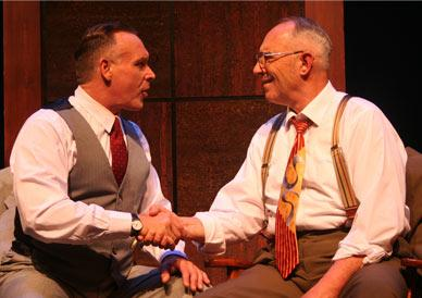 "Gary Kimble as Bill W. and Richard Springle as Dr. Bob in ""Pass It On: An Evening with Bill W. and Dr. Bob"""