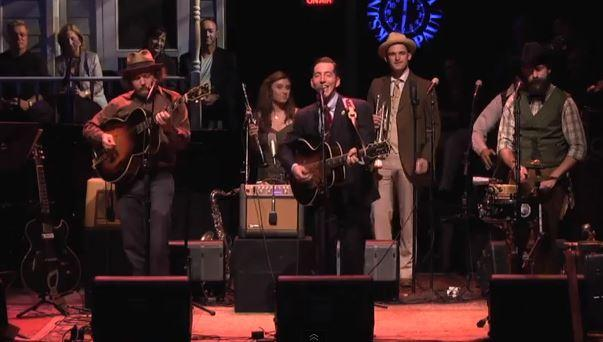 Pokey Lafarge and his band perform on A Prairie Home Companion on Oct. 5, 2013.