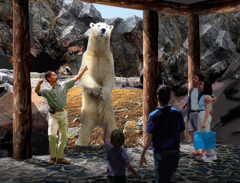 An artist's rendering of the new exhibit