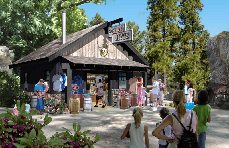An artist's rendering of the new gift shop
