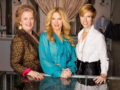 Sue McCarthy with her daughters. They own Women's Closet Exchange in South County and starred in Resale Royalty on the Style Network.