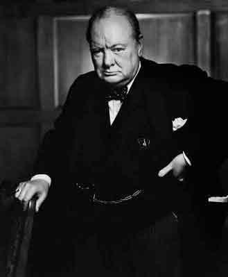 The iconic portrait of Winston Churchill taken by Yousef Karsh is currently on display. Karsh is an inductee in organization's hall of fame.