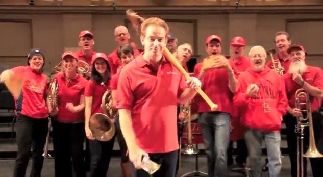 Members of the St. Louis Symphony taunt members of the Boston Symphony Orchestra in a fun video for the World Series.