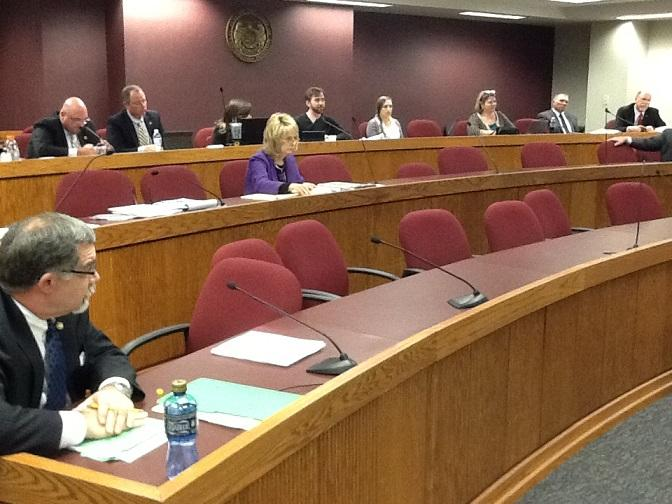 The Mo. House Interim Committee on Medicaid Transformation meets at the State Capitol on Nov. 19, 2013.