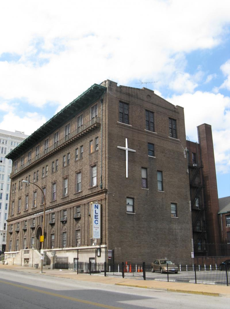 The New Life Evangelistic Center at 1411 Locust Street.