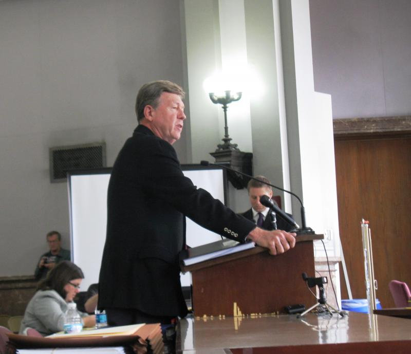 Larry Rice addresses the Board of Public Service on Tuesday, Nov. 11, 2013.