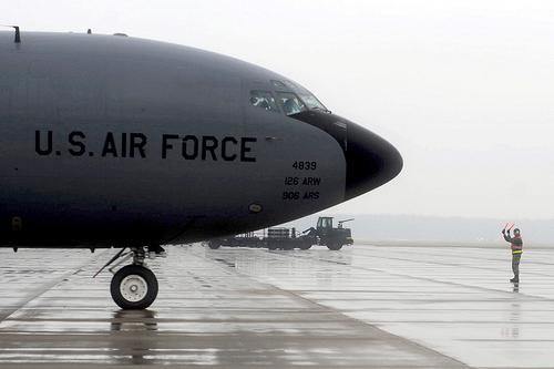 The KC-135 is an aerial refueling tanker. The aircraft is critical to the operations at Scott Air Force Base.