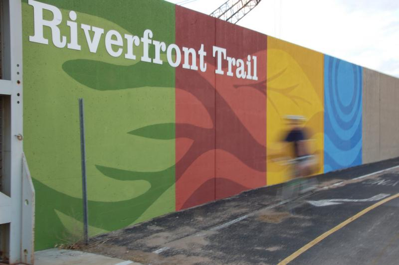 Riders along the Riverfront Trail north of downtown may have more amenities next year, thanks to a real estate purchase by Great Rivers Greenway.