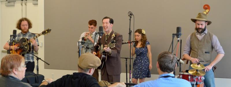 Pokey LaFarge performing in concert for Arch City Radio Hour