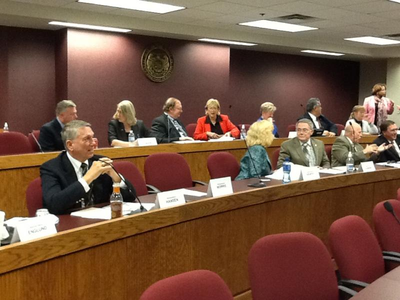 Mo. House Cmte. on Economic Development shortly before the start of its meeting on Dec. 3, 2013.