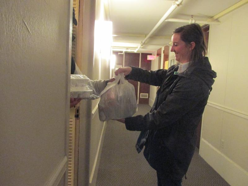 Senior Shannon Leahy is a delivery shift leader.