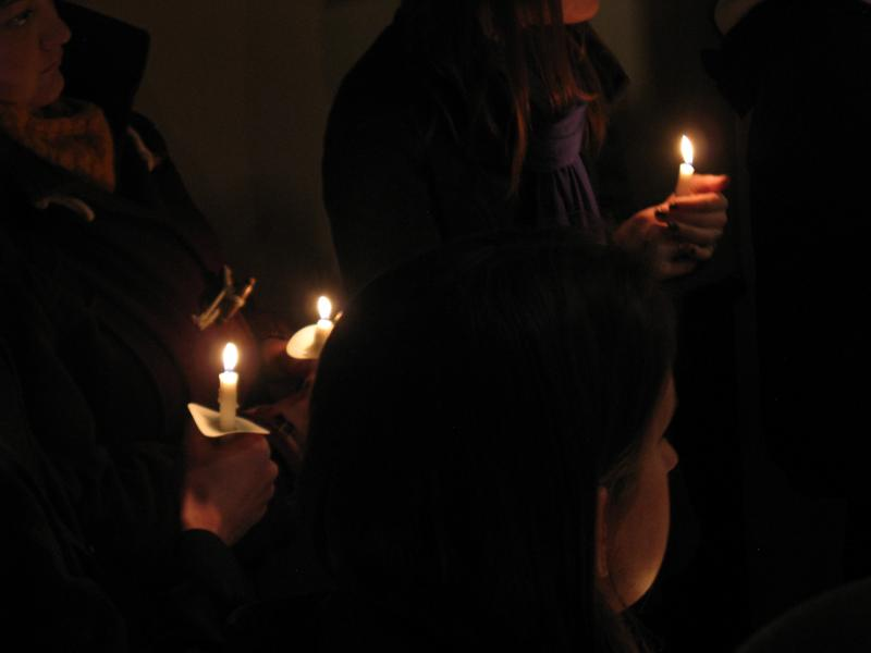 A candlelight prayer following the ceremony, which remembers those who were homeless when they died.
