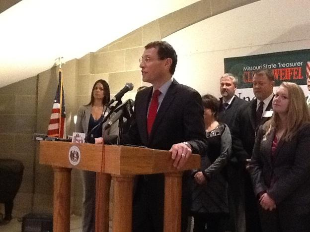 Mo. Treasurer Clint Zweifel (D) announces new program in which unclaimed property can be directly donated to charity.