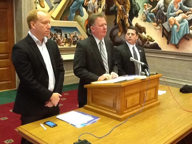 (l-r) EEG's John Watson, Mo. Chamber Pres./CEO Dan Mehan, & Mo. Chamber Education VP Brian Crouse.