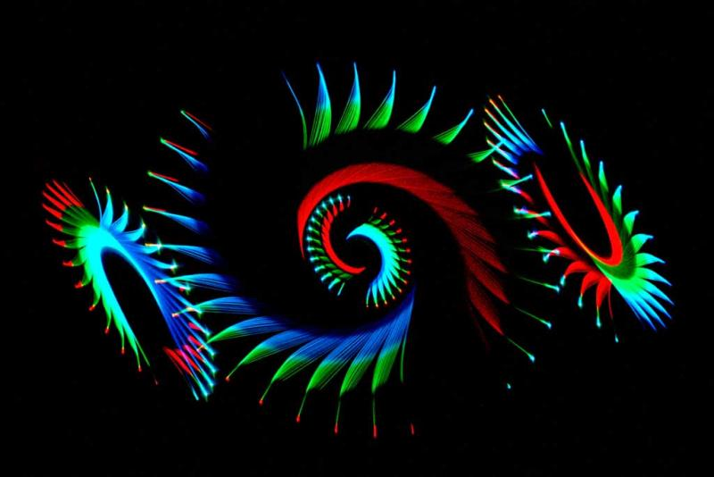 A snapshot of the work of laserist Brian Wirthlin
