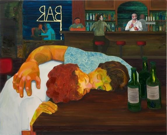Nicole Eisenman, Sloppy Bar Room Kiss, 2011. Oil on canvas, 39 x 48 inches. Collection of Cathy and Jonathan Miller. Courtesy the artist and Susanne Vielmetter Los Angeles Projects. Photo: Robert Wedemeyer