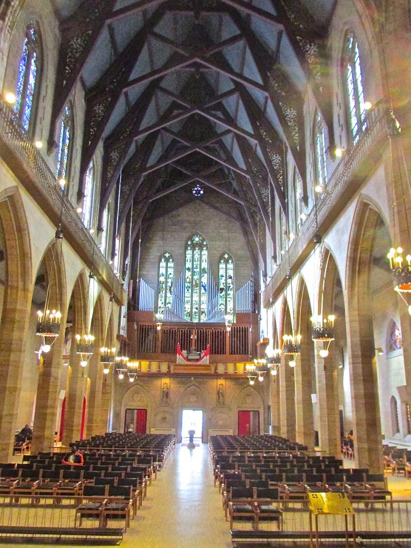 The historic Christ Church Cathedral in downtown St. Louis where Dr. Martin Luther King preached on March 23, 1964.