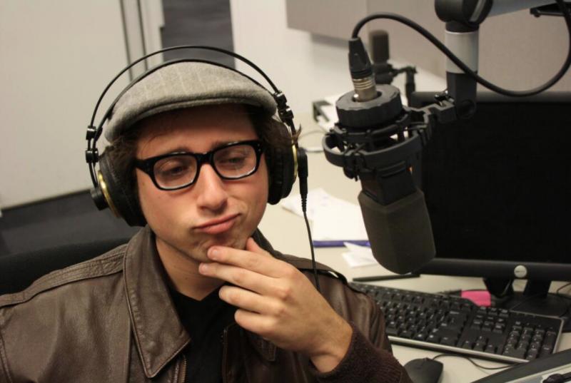 A pensive Ian Lubar of Mt. Thelonius in the St. Louis Public Radio Studio
