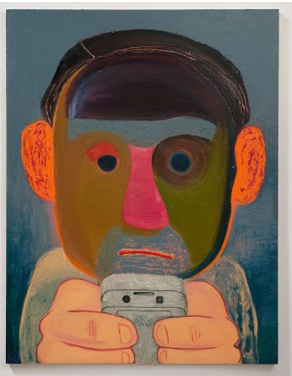 Nicole Eisenman, Breakup, 2011. Oil and mixed media on panel, 56 x 43 inches. Collection of Robert and Bonnie Friedman, Los Angeles. Courtesy the artist and Susanne Vielmetter Los Angeles Projects. Photo: Robert Wedemeyer