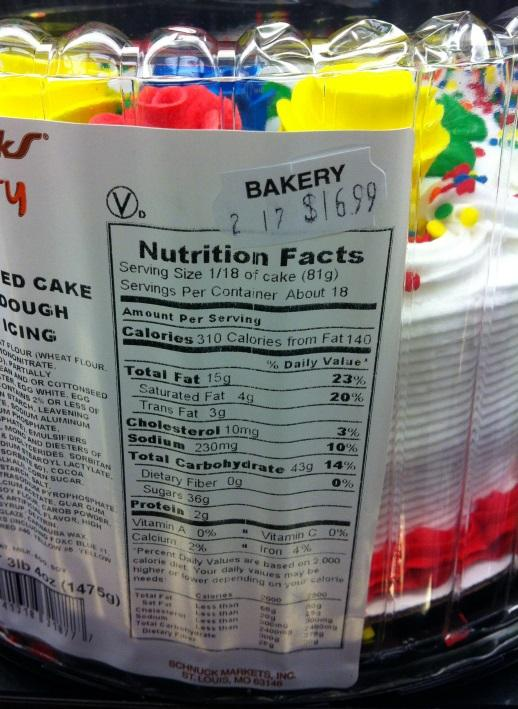 Trans Fats Help Icing Hold Its Shape On Many Supermarket Cakes