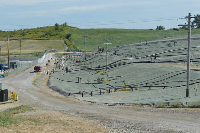 The cap over the Bridgeton Landfill was added by Republic Services to help reduce odor.