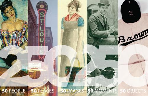 Signature image of the 250 in 250 exhibit opening in February at the Missouri History Museum.